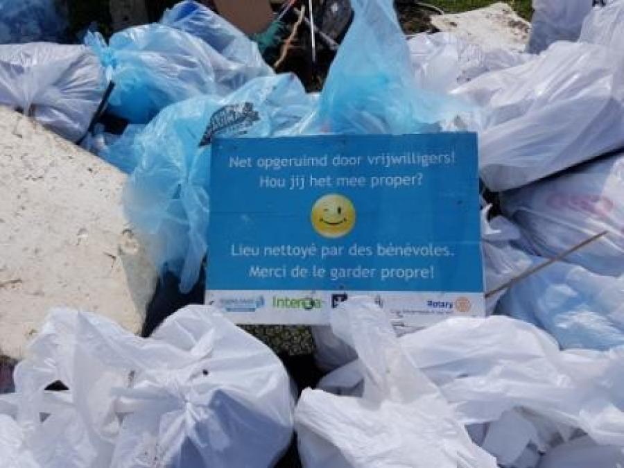 Plus de 500 kg de déchets sauvages